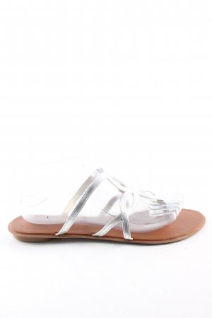 3 Suisses Flip-Flop Sandals silver-colored casual look