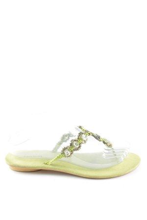 3 Suisses Flip Flop Sandalen grün Casual-Look