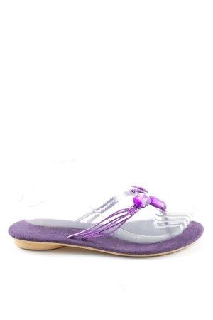 3 Suisses Flip Flop Sandalen lila Casual-Look
