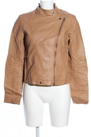 3 Suisses Faux Leather Jacket brown casual look