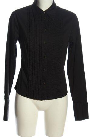 3 Suisses Camisa de manga larga negro estilo «business»