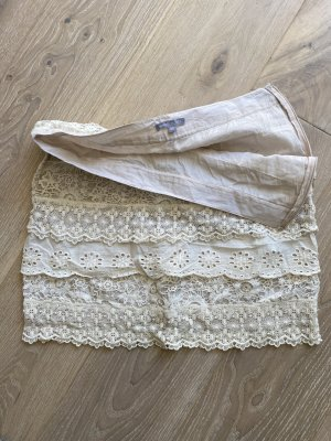 3 Suisses Lace Skirt natural white cotton