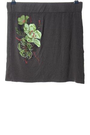 3 Suisses Minirock schwarz-grün Blumenmuster Casual-Look