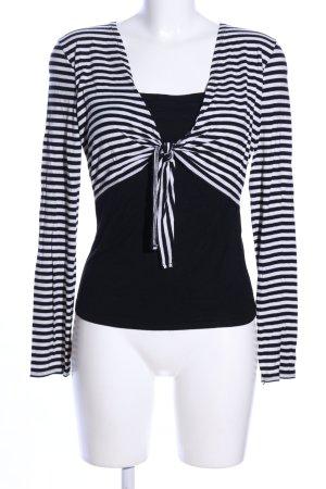 3 Suisses Camisa de rayas blanco-negro estampado a rayas look casual