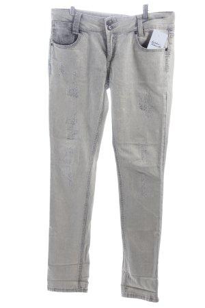 3 Suisses Slim Jeans creme-stahlblau Casual-Look