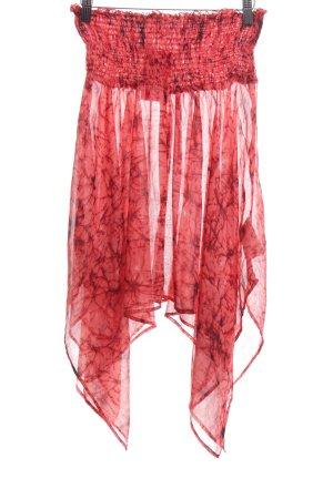 3 Suisses Spódnica ze stretchu czerwony Abstrakcyjny wzór Elegancki