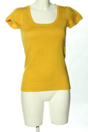 3 Suisses Camisa tejida amarillo pálido look casual