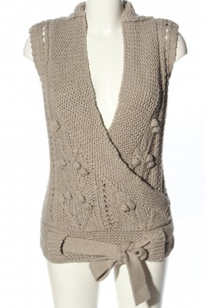 3 Suisses Knitted Vest natural white casual look