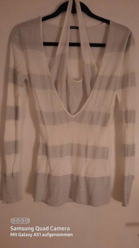 3 Suisses Cienki sweter z dzianiny biały-srebrny