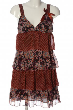 3 Suisses Pinafore dress red-white flower pattern elegant