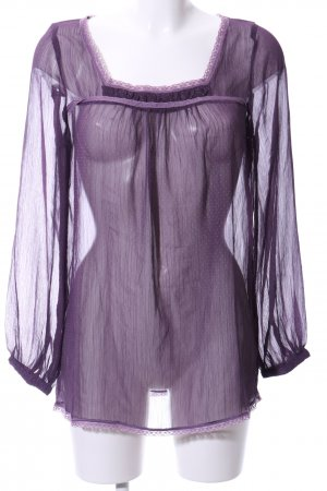 3 Suisses Transparent Blouse lilac spot pattern casual look