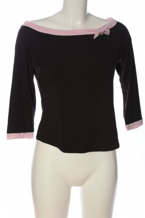3 Suisses U-Boot-Shirt schwarz-pink Casual-Look