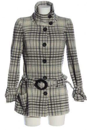 3 Suisses Between-Seasons-Coat light grey-black check pattern casual look