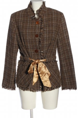 3 Suisses Between-Seasons-Coat brown-white allover print casual look