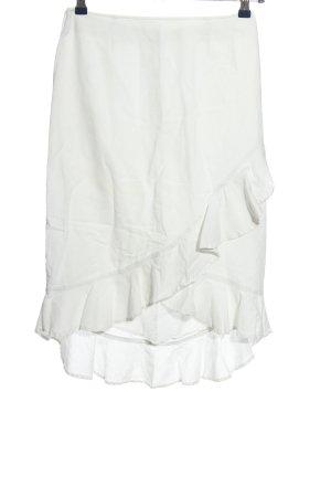 3 Suisses Falda con volantes blanco look casual