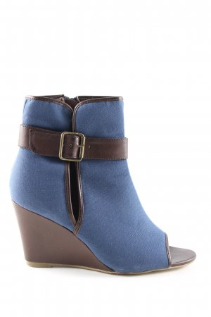3 Suisses Wedges Sandaletten blau-braun Casual-Look