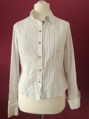 3 Suisses Long Sleeve Blouse white cotton