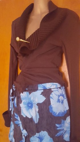 3 Suisses Wickelbluse Cardigan Netz Bluse transparent XS S