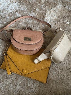 3 Taschen, Krokoprint, Pastelltöne