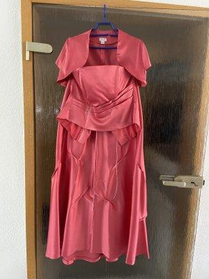 Fokus Vestido corsage rojo neón