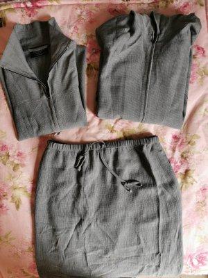 Kombiworld Falda de lino gris