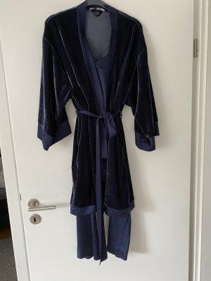 Lingerie Badjas donkerblauw-blauw