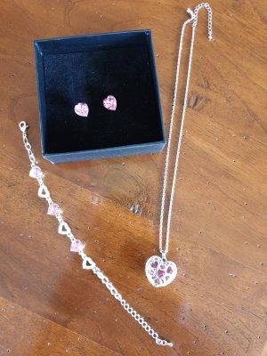 Braccialetto in argento argento-rosa