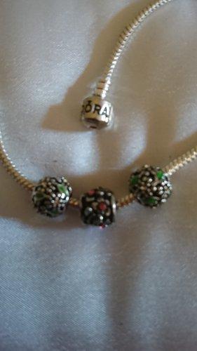 3  wunderschöne Silber Beads Charms für Armband oder Kette