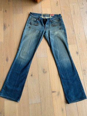 7 For All Mankind Vaquero de corte bota azul pálido