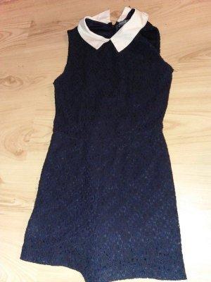 30er 40er 50er Retro Einteiler Jumpsuit Kleid mit Kragen 36 Retro Kleid