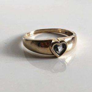 333 Gold Ring Goldring Herz Kristall 8kt 8ct 8 Karat 333er Gold