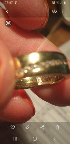 keine Ahnung Złoty pierścionek złoto