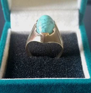 keine Gold Ring gold-colored-turquoise