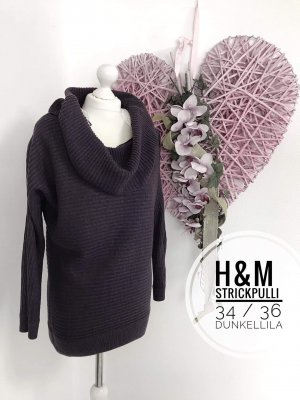 34 36 Rollkragen Pullover Strick grobstrick Pulli H&m Oberteil sweater blogger vintage