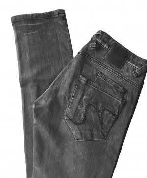 34 36 S NÜMPH Hose Jeans Hüftjeans Hüfthose Röhre dunkelgrau tiptop