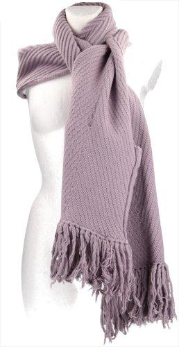 Louis Vuitton Bufanda de punto malva tejido mezclado
