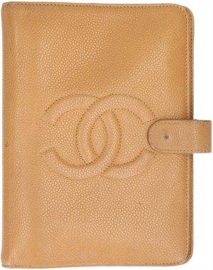 Chanel Estuche beige Cuero
