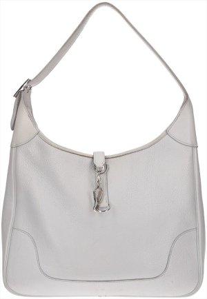 34414 Hermès Trim II 35 Schultertasche, Handtasche aus Clemence Leder in Bleu Glacier