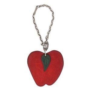 Hermès Key Chain red leather