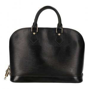 35730 LOUIS VUITTON ALMA PM HENKELTASCHE AUS EPI LEDER IN KOURIL SCHWARZ