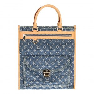35885 Louis Vuitton Sac Plat Monogram Denim Canvas Tasche, Handtasche, Henkeltasche