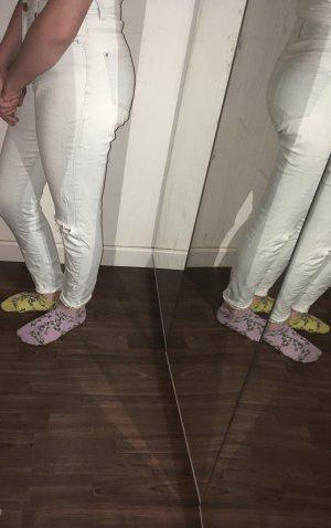 36 Hose Jeans weiß hellblau