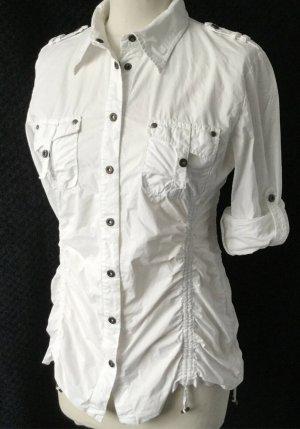 IQ+ Berlin Shirt Blouse white-silver-colored cotton