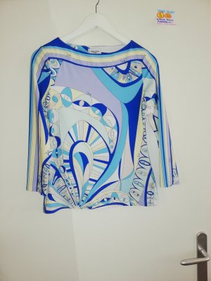 36 S SHIRT Emilio Pucci blau weiß