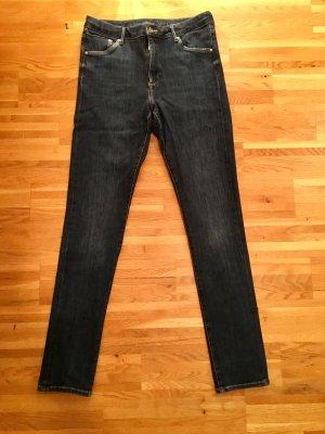 H&M Stretch Trousers dark blue cotton