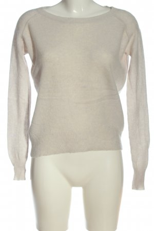360 Sweater Cashmere Jumper light grey-black printed lettering casual look
