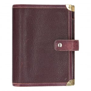 36027 LOUIS VUITTON AGENDA FONCTIONNEL MM AUS SUHALI LEDER IN PLUM