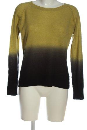 360Cashmere Cashmerepullover blassgelb-schwarz Farbverlauf Casual-Look
