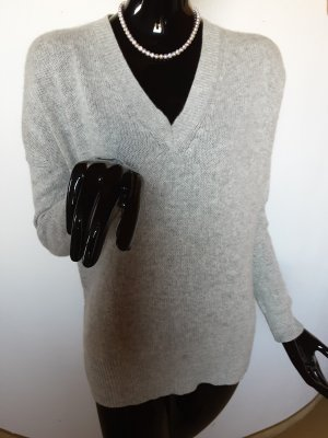 360Cashmere Cashmere Jumper light grey-neon green cashmere