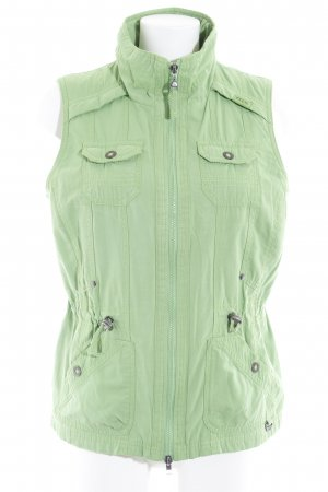 360Cashmere Leather Vest meadow green casual look